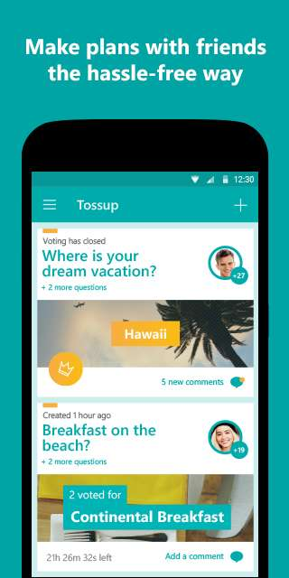 Social Polling Apps - The 'Tossup' App Lets Users Vote on Different Events and Activities