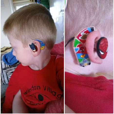 Superhero-Inspired Hearing Aids - This Line of Hearing Aids for Kids Features Decorative Designs