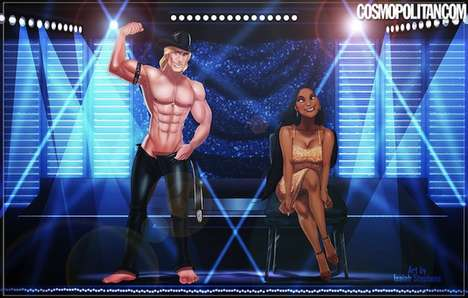 Stripper Disney Princes - Isaiah Stephens Re-Imagines Wholesome Characters as Magic Mike Contenders