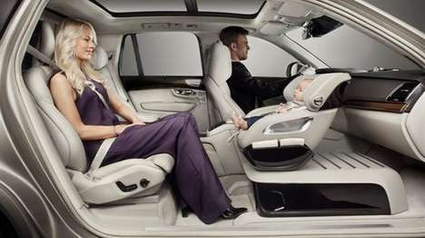 Passenger-Facing Child Seats - Volvo's Excellence Child Seat Concept Places the Baby Seat Up Front
