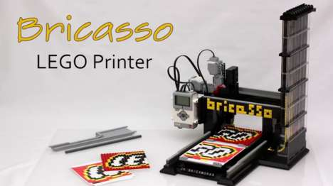 LEGO Assembly Machines - JK Brickworks' 'Bricasso' Recreates Scanned Images in LEGO Blocks