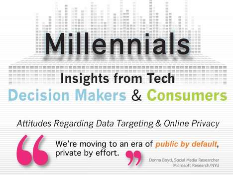 Data-Targeting Millennial Infographics - This Infographic Details Gen Y Attitudes on Web Privacy