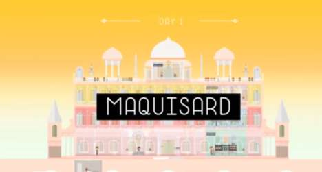 Quirky Hotel Video Games - Maquisard is Inspired by Wes Anderson's 'The Grand Budapest Hotel'
