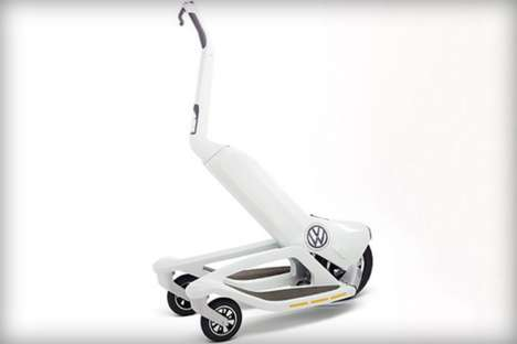 Car Company Scooters - The Volkswagen Electric Scooter Hopes to Compete Against the Segway