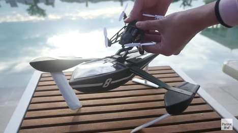 Water-Friendly Drones - The Hydrofoil Drone is Comfortable On the Water and In the Air
