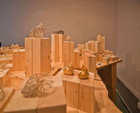 Skyline-Inspired Jewelry Displays