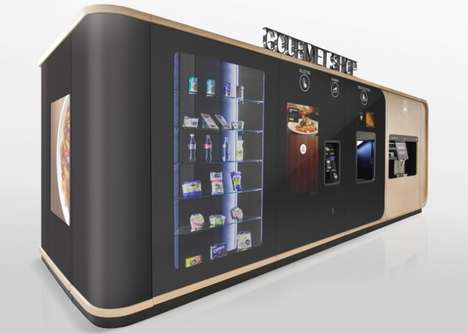 Epicurean Vending Machines - Mormedi 'Button Gourmet' Shop Doles Out Cold Drinks and Hot Food