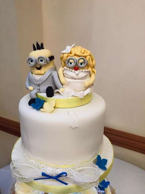 Alien-Themed Weddings - This Blockbuster Wedding Incorporated Minion Decorations and Colors