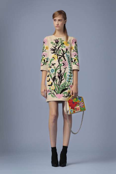 Decorative Floral Fashion - The Andrew Gn Resort Collection Features Garden-Like Style