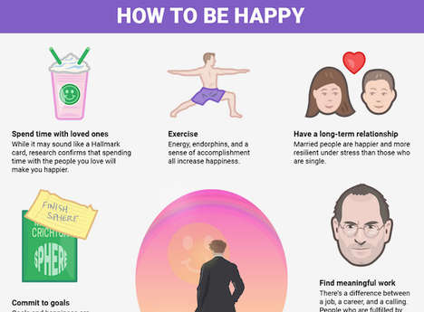 Happiness-Increasing Guides - The Infographic From Business Insider Lists Ways to be Happier