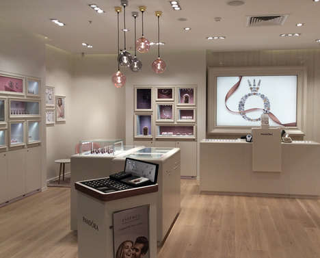 Open-Concept Jewelry Shops - Pandora's New Jewelry Store Design Increases Interaction