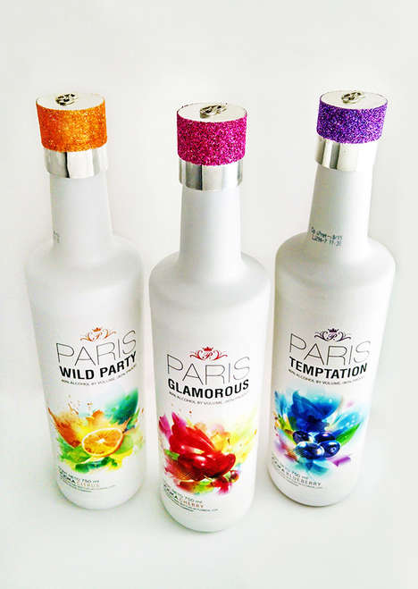 Socialite-Inspired Vodkas - This Paris Hilton Vodka Brand is Decorated with Sparkles & Bight Colors
