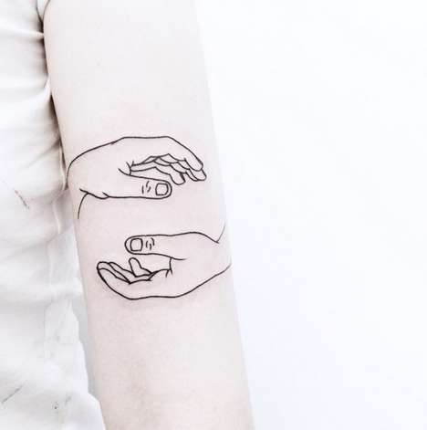 Whimsical Black Tattoos - Caitlin Thomas Creates Body Ink Designs That are Deceptively Simple