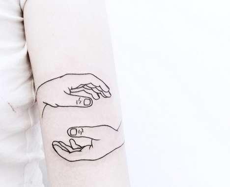 Whimsical Black Tattoos