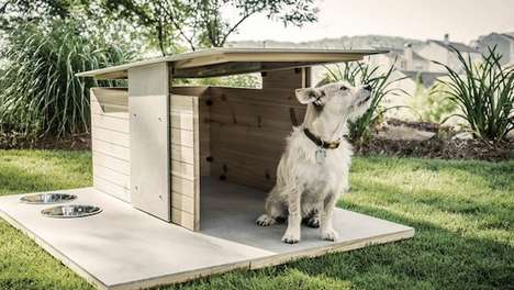 Modern Dog Houses - Puphaus by Pryamid Design Co. is a Stylish Outdoor Abode for Man's Best Friend
