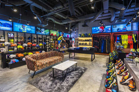 Modernized Garage Retail Stores - This Sporting Goods Shop Presents Modern Attire in a Retro Space