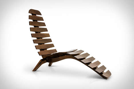 Spine-Inspired Chairs - This Beautiful Chaise Lounge is Inspired by the Curve of the Human Spine