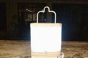 This Ingenious Lamp Uses Salt Water to Power Its Galvanic Cell Battery