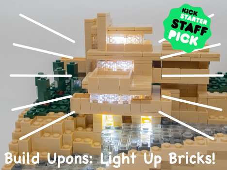 Luminous LEGO Bricks - The LEGO Compatible Bricks from 'Build-Upons' Contain Tiny LED Lights