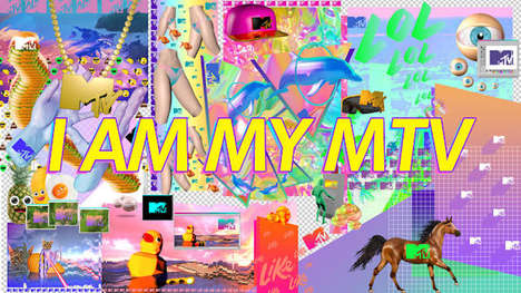 Fan-Created TV Branding - 'I Am My MTV' Broadcasts Visuals Inspired by Viewer Content