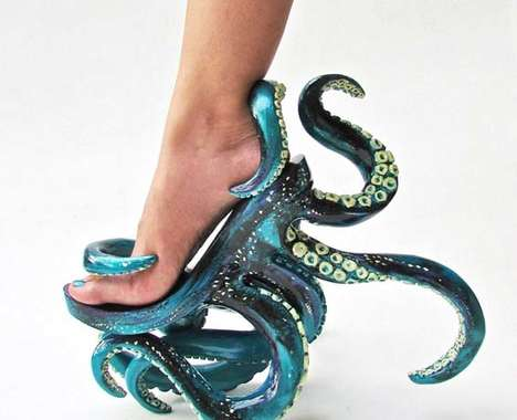 Octopus-Inspired Stilettos