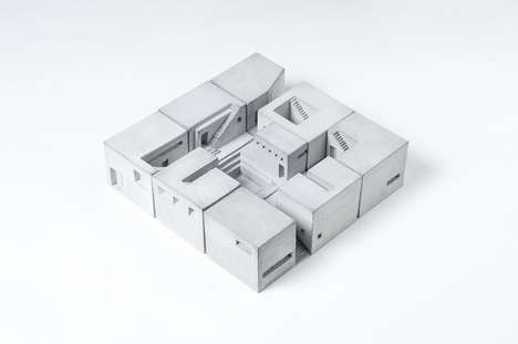 Miniature Concrete Buildings - SPACES by Material Immaterial Studio Celebrates Iconic Architecture