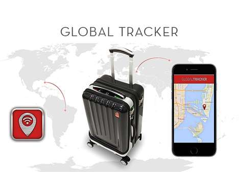 High-Tech Biometric Luggage - This Multifunctional Suitcase Keeps Your Belongings Safe and Secure