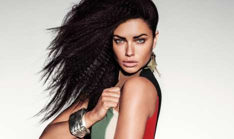 Glamorously Graphic Editorials - The Adriana Lima Vogue Mexico Cover Shoot is Full of Bold Fashion