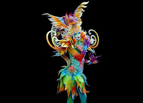 Surrealist Body Art - The World Bodypainting Festival Presents Colorful Art on Human Canvases