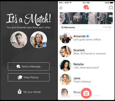 Celebrity Dating Sites - This Tinder App Extension Lets Users Romantically Connect with Celebrities