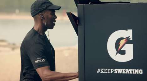 Sweat-Activated Drink Dispensers - Gatorade's Drink Vending Machine Only Serves People Who Sweat