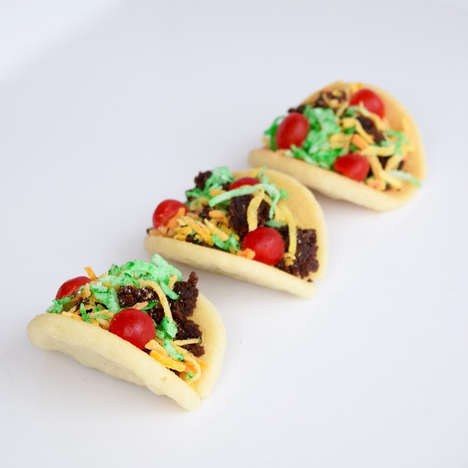Taco-Inspired Cookies - These Adorable Cookies are a Fun Way to Enjoy a Classic Mexican Dish