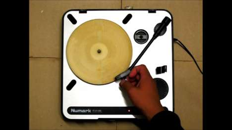 Edible Musical Records - This Laser Cut Tortilla Record Lets You Literally Play with Your Food