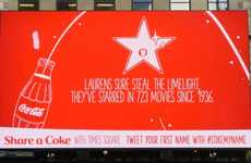 Social Drink Billboards - This Real-Time Ad Shares Name Facts When You Send It a Tweet