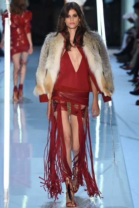 Punk Americana Fashion - Alexandre Vauthier's Fall Couture Line Modernizes Native Americana Style