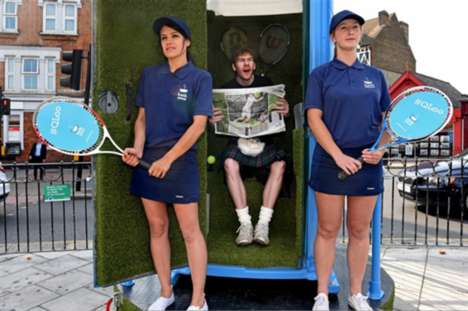 Bathroom Retailer Pop-Ups - QLoo Launched a Clever Activation at the 2015 Wimbledon Championships