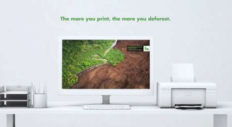 Desktop Deforestation Wallpapers - Green Nation Urges People to Be Mindful of Printed Paper Waste