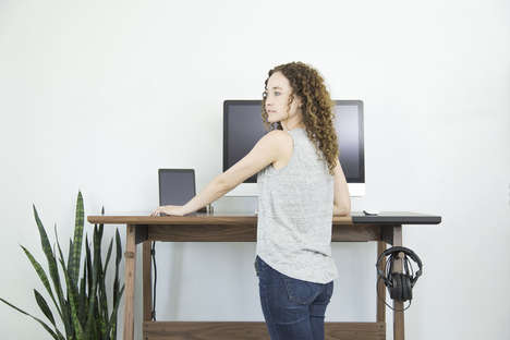 Industrial Standing Desks - The Artifox Standing Desk is a Stylish Alternative to Similar Designs