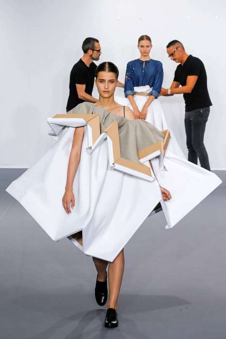 Wearable Canvas Couture - The Viktor & Rolf Fall Couture Collection Makes Fashion Out of Art Pieces