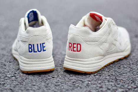 Gang Peace Sneakers - These Reebok Sneakers Unite Red & Blue Colors to Promote Gang Peace