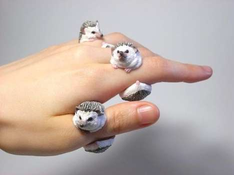 Realistic Animal Rings - These Adorable Animal Accessories are Made with Unbelievable Detail
