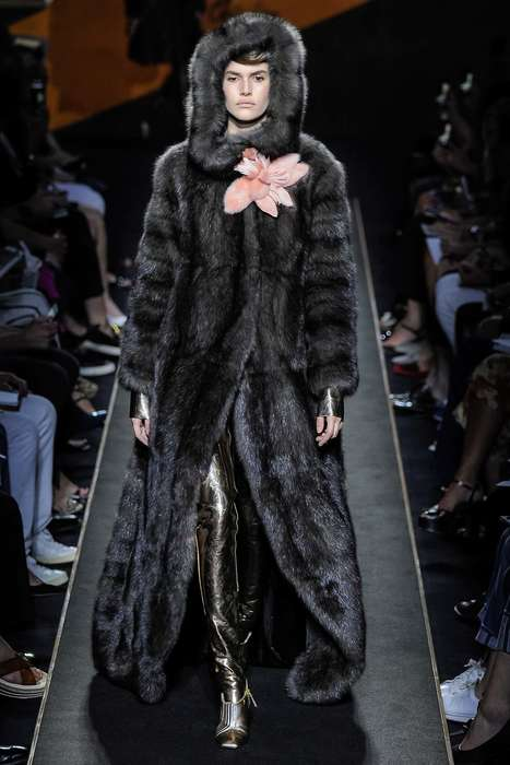 Exaggerated Fur Couture - Fendi's First Couture Collection Features Extremely Furry Looks