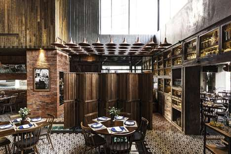 Textured Restaurant Interiors - This Guadalajara Restaurant Boasts a Stylish Rustic Texture