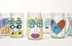 Hand-Painted Coffee Jars - These Limited Edition Coffee Mason Jars Celebrate Starbucks' Cold Brew