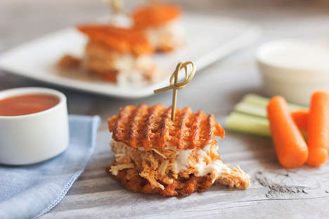 Gluten-Free Slider Recipes - These Buffalo Chicken and Sweet Potato Sliders are Easy and Grain-Free