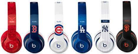 Baseball-Inspired Headphones - These MLB Beats By Dr. Dre are Decorated in Five Team-Specific Styles