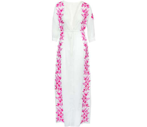 Spa Resort Fashions - This Fashion Line Fuses Pure White Attire with Delicate Floral Embroidering