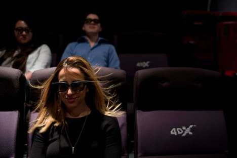 Immersive Theater Seats - 4DX Motion Seating Makes Viewers Feel Part of a Film