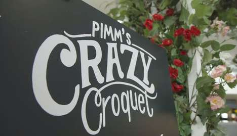 Airport Croquet Experiences - The Pimm's #CrazyCroquet Course is Located in Heathrow's Terminal 2
