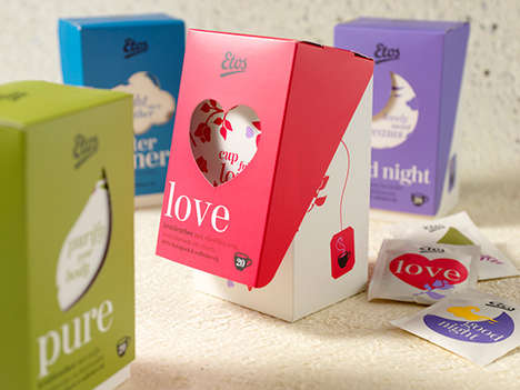 Mood-Reflecting Teas - These Etos Tea Packaging Designs Reflect Various States of Mind